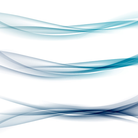 Three abstract modern swoosh border line waves layout.  イラスト・ベクター素材