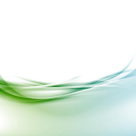 Swoosh frontera transparente onda suave fondo de diseño de certificado de la línea de velocidad abstracta. Ilustración de vector