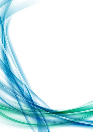 Bleu swoosh certificat de ligne fond abstrait ligne d'onde moderne et futuriste de mise en page. Banque d'images - 39922946