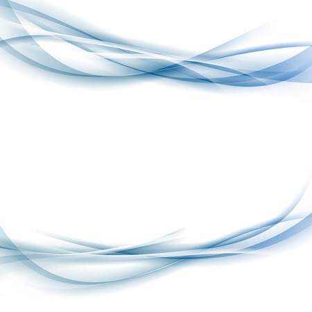 Modern abstract blue smooth swoosh wave background