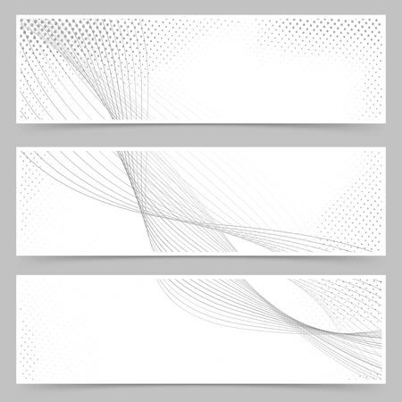 footer: Promotion flyer wave line header collection set.