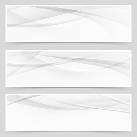 header design: Abstract swoosh modern wave layout card set web header footer design or flyer collection.