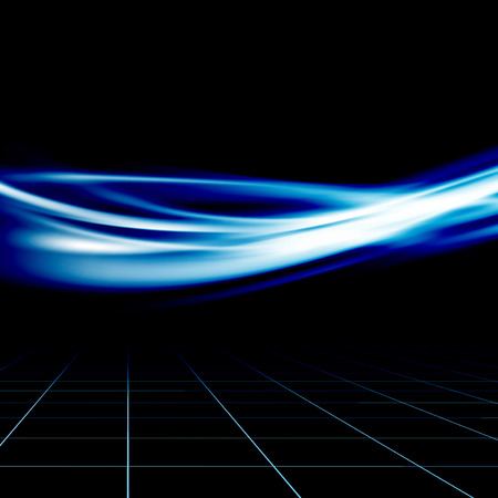 swoosh: Blue futuristic abstract energy speed wave.