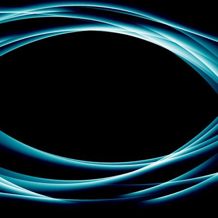 surrealistic: Blue modern abstract wave border background.  Illustration