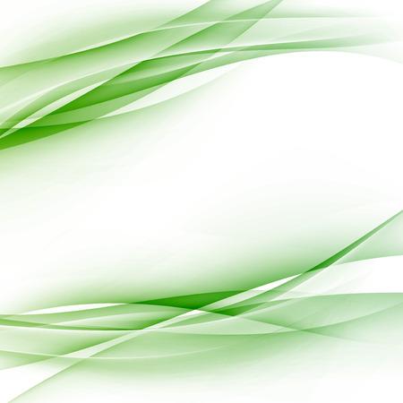 Green swoosh abstract wave folder border modern hi-tech business card or certificate template layout.