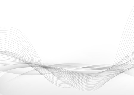 Elegant abstract smooth swoosh speed gray wave modern stream background. Vector illustration