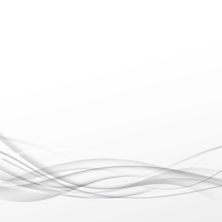 transition: Grey abstract smooth line transparent swoosh background hi-tech modern layout. Vector illustration