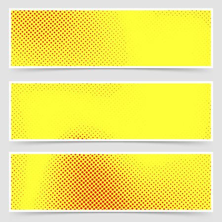 retro art: Pop-art gestippelde retro-stijl gele flyer verzameling oud stripboek polka dot sjabloon. Vector illustratie