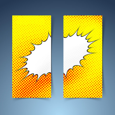 Pop art comic book style steam cloud banner. Vector illustration Vector