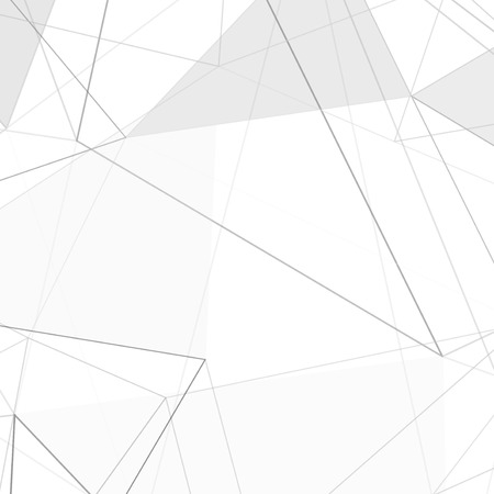 grey line: Contemporary hi-tech abstract triangle design layout minimalistic grey line background. Vector illustration