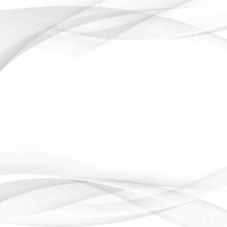 Zachte abstracte vloeiende grijze lijnen achtergrond lay-out sjabloon. Vector illustratie Stock Illustratie