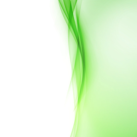 Bright green abstract swoosh wave border line. Vector illustration