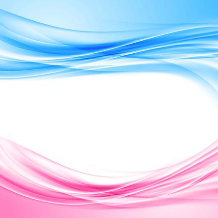 Azul brillante y borde de color rosa de fondo abstracto plantilla de diseño de patrón de onda. Ilustración vectorial Foto de archivo - 41099174