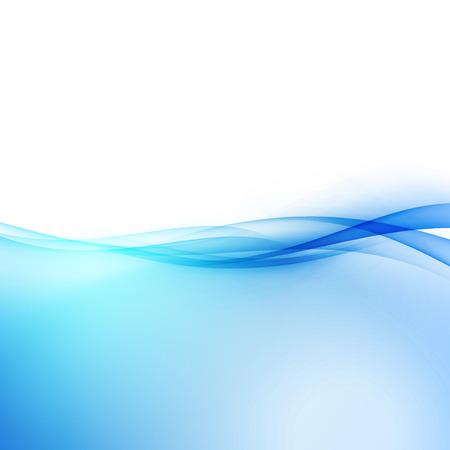 Abstract transparent hi-tech border swoosh line. Vector illustration Vectores
