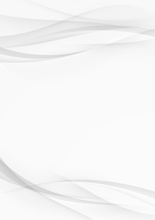 Abstract transparent wave document lines layout modern hi-tech soft folder background. Vector illustration Illustration