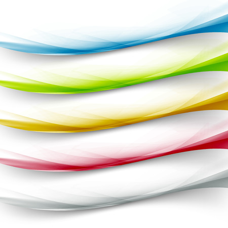 Transparent web colorful border collection header footer line colorful abstract modern set.  일러스트