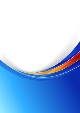 blue design: Blue modern folder with metal border design.  Illustration