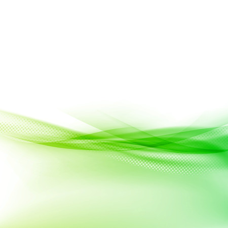 Ecology modern green swoosh wave border abstract hi-tech dotted particle design layout. Illustration