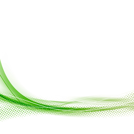 green line: Green speed abstract dotted swoosh line wave minimalistic hi-tech design modern particle layout.