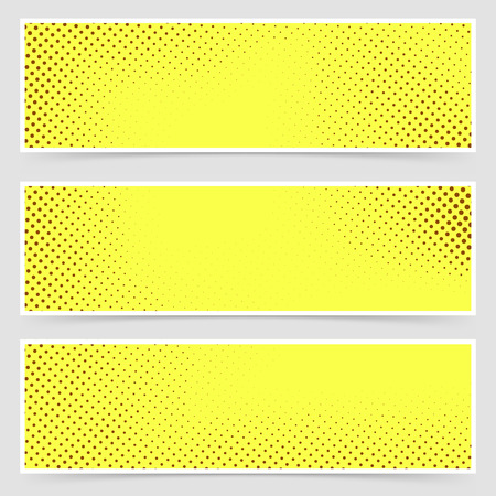 polka dotted: Bright dotted comic book style header set. Vector illustration Illustration
