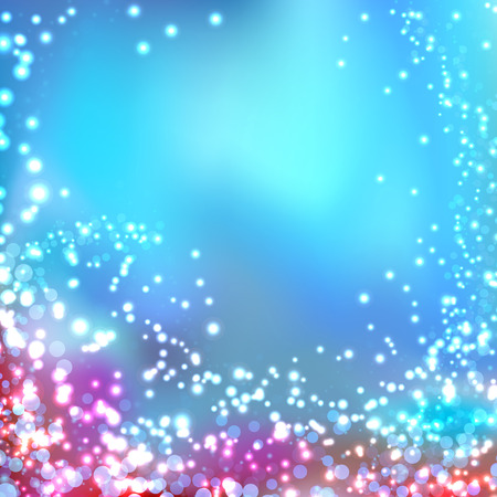 flaring: Modern blurred abstract glittering christmas background with fantasy light shine flaring particle. Vector illustration