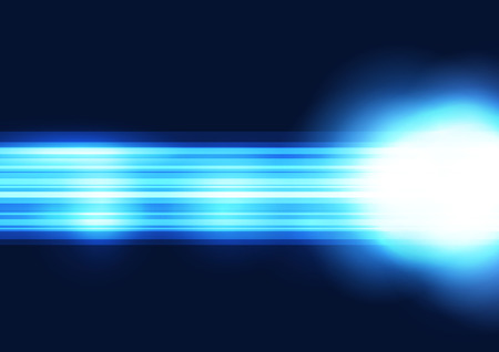 Bright blue straight line abstract shine background light futuristic ray over dark background. Vector illustration