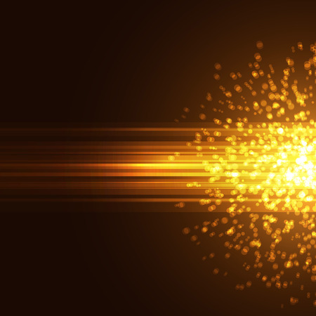 Modern bright particle abstract background explosion ray card. Vector illustration Vectores