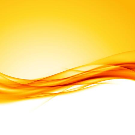 Bright orange swoosh wave border background modern futuristic abstract layout. Vector illustration