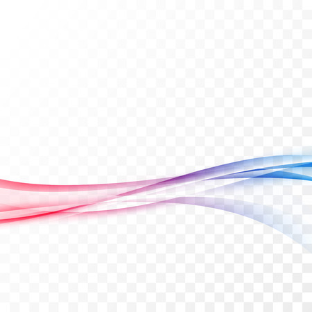 Bright red blue smooth border swoosh wave. Vector illustration
