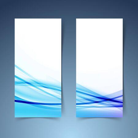 vertical banner: Bright modern vertical banner set layout in blue color. Vector illustration Illustration