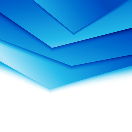 layered: Bright blue layered modern concept. Vector illustration