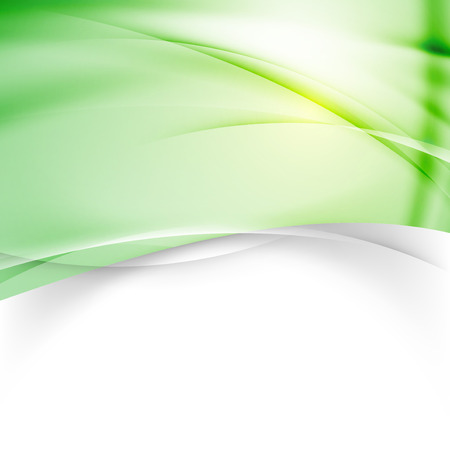 Green modern background design template swoosh elegant wave abstract pattern. Vector illustration Banco de Imagens - 42975449
