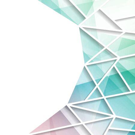 Modern Bright driehoekig raam achtergrond. vector illustratie