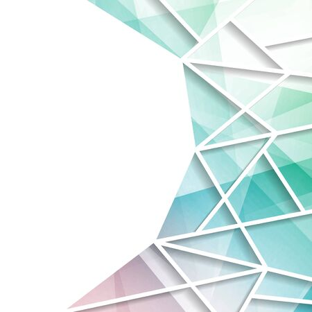 Modern Bright triangular window background. Vector illustration