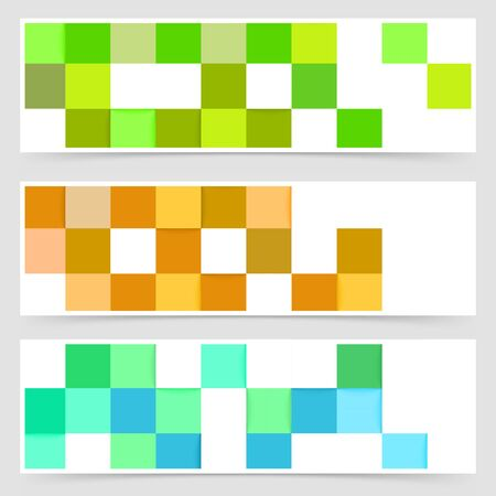 mania: Tile color mania abstract header collection. Vector illustration