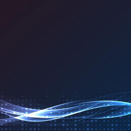 fibers: Bright swoosh speed abstract wave layout. Vector illustration Illustration