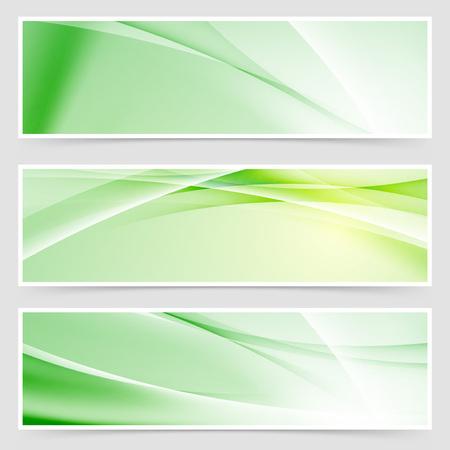 Bright ecological web header collection. Vector illustration Vectores