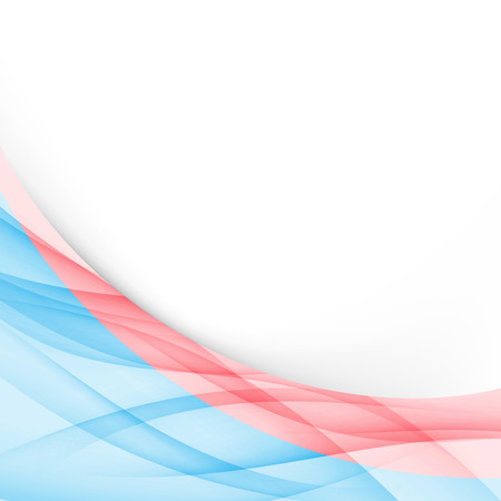 파란색과 빨간색 현대 폴더 테두리 템플릿입니다. 벡터 일러스트 레이 션