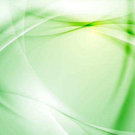 green background: Green folder swoosh line abstract background. Vector illustration