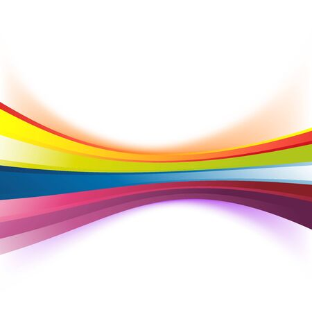orange abstract: Colorful abstract rainbow stripe background modern birthday swoosh wave line banner. Vector illustration Illustration