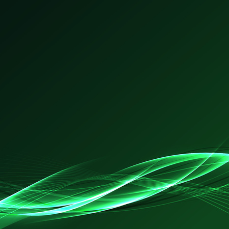 fusion: Futuristic speed power fusion green wave abstract beautiful swoosh line background. Vector illustration