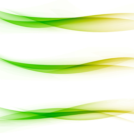 Bright colorful abstract transparent swoosh line divided web elements collection. Vector illustration