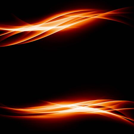 energia arancione luminoso astratto velocità sfondo striscia movimento dinamico volantino. illustrazione di vettore