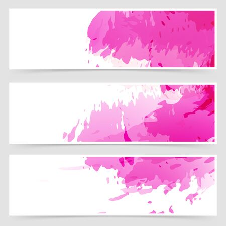 splatter paint: Abstract art header set collection. Vector illustration Illustration