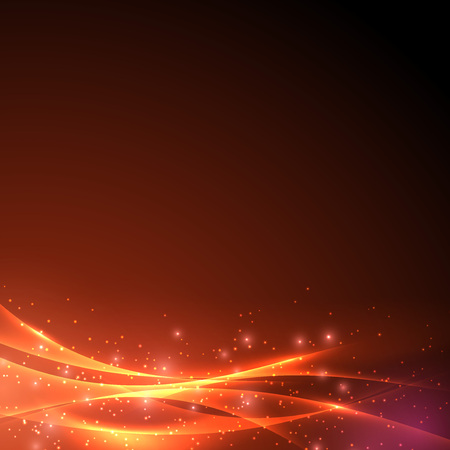 fantasy background: Sparkling abstract swoosh wave light background. Vector illustration