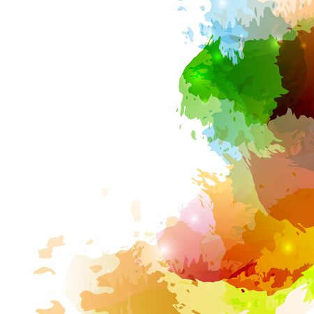 splatter paint: Bright colorful paint splatter background design. Vector illustration