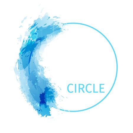 painted the cover illustration: Zen circle abstract modern background design. Vector illustration Illustration