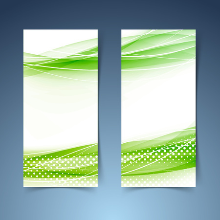 smooth background: Ecological modern abstract swoosh banner collection. Vector illustration