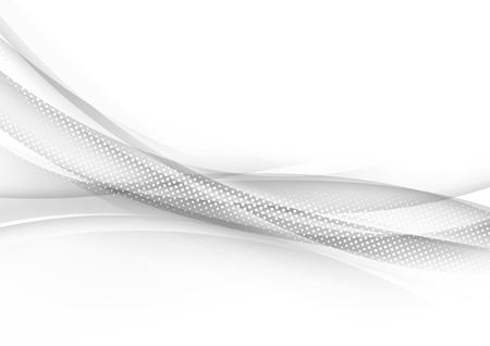 hi tech background: Transparent halftone modern swoosh wave line abstract border particle hi-tech background.