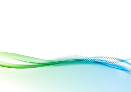 clean energy: Abstract modern folder layout with wave background. Dotted with white particle green to blue gradient swoosh. Vector illustration